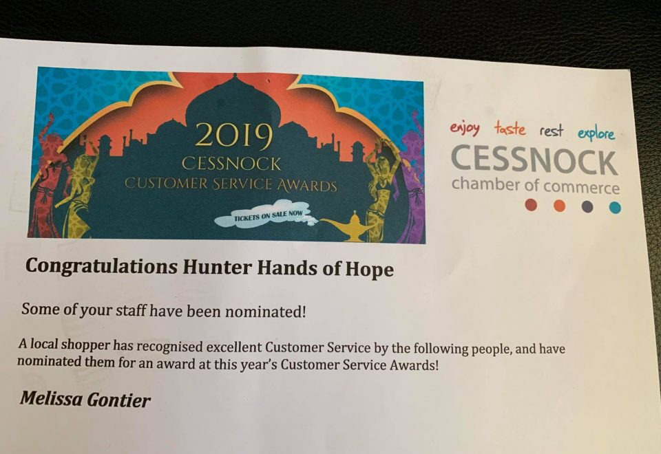 Nomination for Customer Service Awards 2019